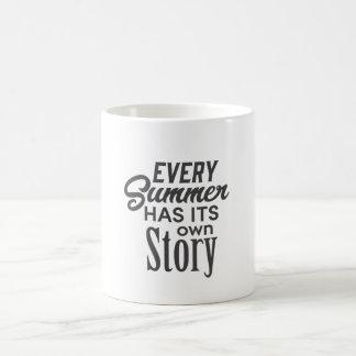 夏の引用文のマグ コーヒーマグカップ