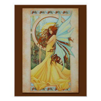 夏の微風のFaeryのプリント11 x 14 ポスター