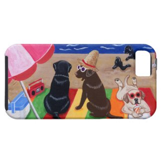 夏の微風のLabradorsの絵画 iPhone 5 Case-Mate ケース