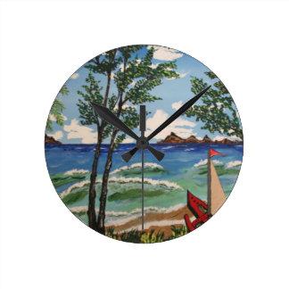 夏の微風 ラウンド壁時計