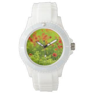 夏の感覚-すばらしいケシによってはIが開花します 腕時計