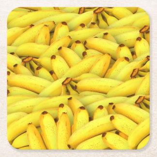 夏の新しいバナナのフルーツの写真 スクエアペーパーコースター
