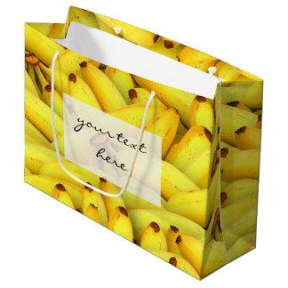夏の新しいバナナのフルーツの写真 ラージペーパーバッグ