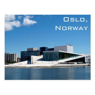 夏の日のノルウェーのオスロのオペラハウス ポストカード