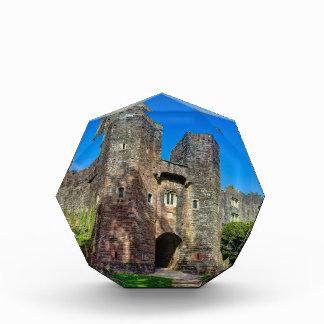 夏の日の英国の城の入口 表彰盾