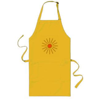 夏の日曜日の暖かく黄色い色 ロングエプロン
