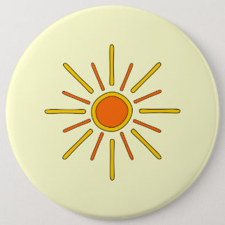 夏の日曜日の黄色およびオレンジ 缶バッジ