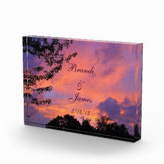 夏の日没のロマンスのアクリルの写真の*Personalize* 表彰盾