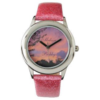 夏の日没のロマンチックな腕時計の*Personalize* 腕時計