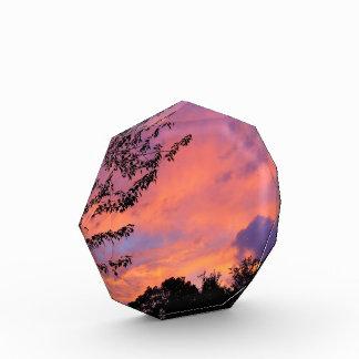 夏の日没の写真のブロック 表彰盾
