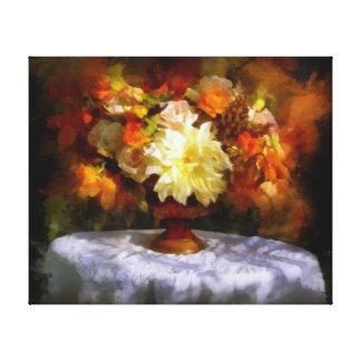 夏の最後の日、秋-花の最初日 キャンバスプリント