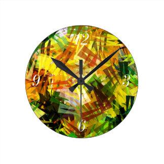 夏の木 ラウンド壁時計