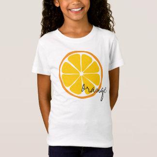夏の柑橘類のオレンジのワイシャツ Tシャツ