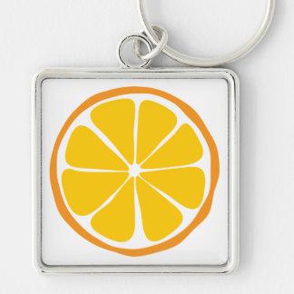 夏の柑橘類のオレンジKeychain キーホルダー