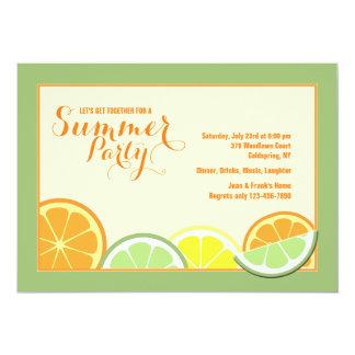 夏の柑橘類の招待状 カード
