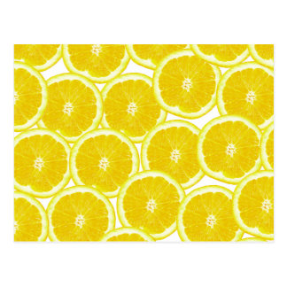 夏の柑橘類レモン切れ はがき