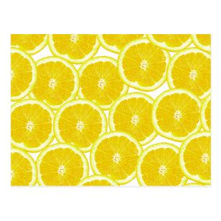 夏の柑橘類レモン切れ ポストカード