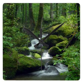 夏の森林小川の柱時計 壁時計