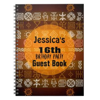 夏の民族の第16誕生会の来客名簿 ノートブック