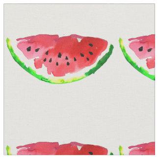夏の水彩画のスイカ ファブリック