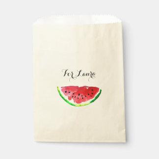 夏の水彩画のスイカ フェイバーバッグ