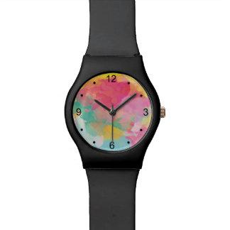 夏の水彩画の腕時計 リストウォッチ