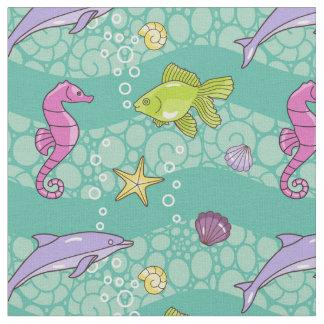 夏の海パターン ファブリック