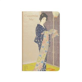 夏の着物の日本のな美しい ポケットジャーナル