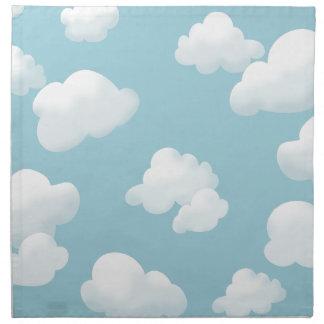 夏の空の雲 ナプキンクロス