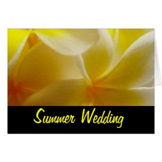 夏の結婚式 カード