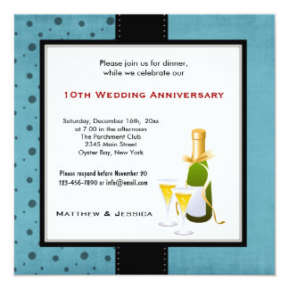 夏の結婚記念日 13.3 スクエアインビテーションカード
