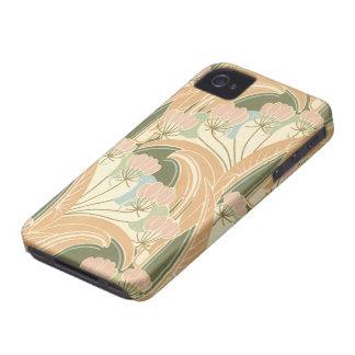 夏の至福のアールヌーボーの花柄の芸術 Case-Mate iPhone 4 ケース