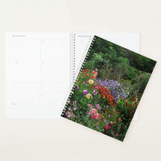夏の花園の花の週間か月例プランナー プランナー手帳