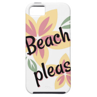 夏の花模様-お願いしますビーチ iPhone SE/5/5s ケース