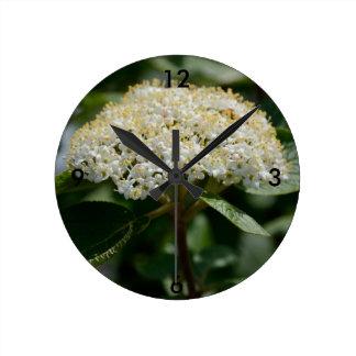 夏の花 ラウンド壁時計