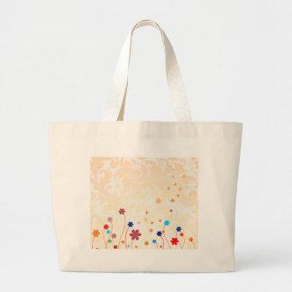 夏の花 ラージトートバッグ