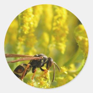 夏の花- goldenrod ラウンドシール
