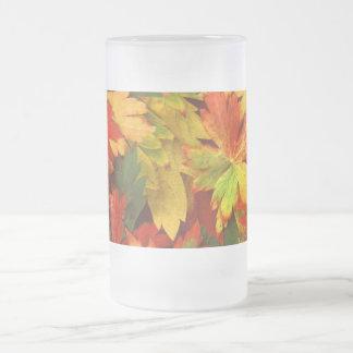 夏の葉 フロストグラスビールジョッキ