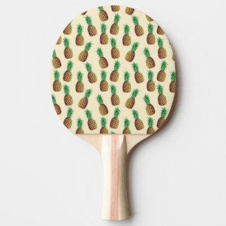 夏の軽いベージュパイナップルパターン 卓球ラケット