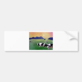 夏の霧の牛 バンパーステッカー