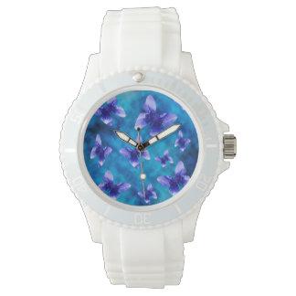 夏の青い蝶、スポーツ 腕時計