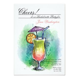 夏の飲み物の招待状 カード