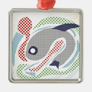 夏の魚 メタルオーナメント