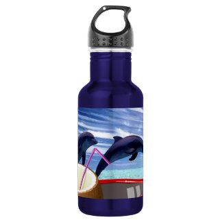 夏の2頭のイルカ ウォーターボトル