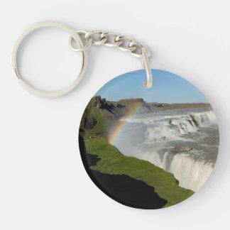 夏のGullfossの滝 キーホルダー
