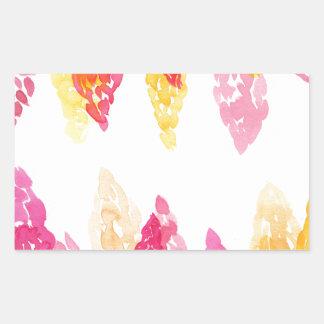夏はピンク-花のSnapdragons -オレンジ咲きます 長方形シール