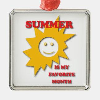 夏は私のお気に入りのな月です メタルオーナメント