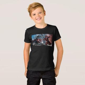 夏はTシャツ-驚嘆のロゴ--をからかいます Tシャツ