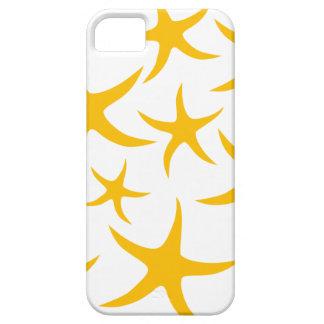 夏らしな黄色がかオレンジヒトデパターン iPhone SE/5/5s ケース