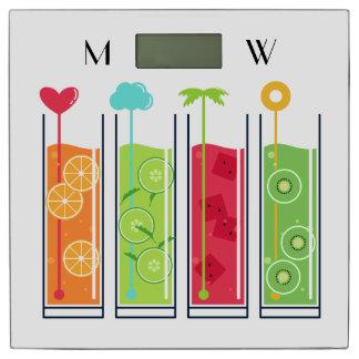夏ジュースのカスタムなモノグラムの体重計 体重計